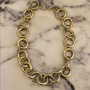 "Jcrew ""gold"""" chain link choker"